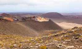 Largest diameter of volcan in Timanfaya national park Royalty Free Stock Photo