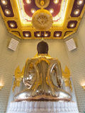The largest golden buddha in meditation action Stock Photo