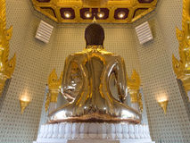 The largest golden buddha in meditation action Royalty Free Stock Image
