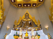 The largest golden buddha in meditation action Royalty Free Stock Photography