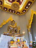 The largest golden buddha in meditation action Stock Image