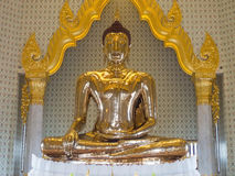 The largest golden buddha in meditation action Stock Photography