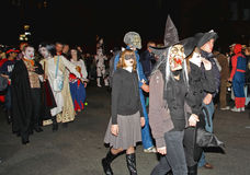 The largest Halloween Parade Royalty Free Stock Photography