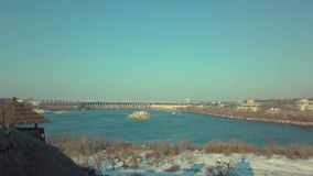 The largest island on the Dnieper. Located in the city of Zaporozhye below the Dnieper rapids royalty free stock images