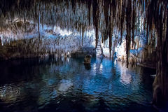 The largest lagoon in Drach Caves Stock Photo