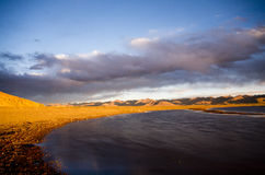 The largest lake in Tibet Stock Photo