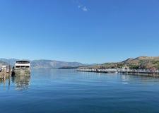 Lake Chelan boat landing, Chelan, WA Royalty Free Stock Image