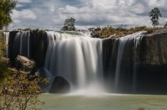 The largest and majestic waterfall in Vietnam is Dry Nur. royalty free stock images