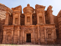 Largest monument in Petra, Monastery (ad Deir) Stock Photography
