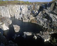 Largest monumental granite quarry in Barre, VT Royalty Free Stock Image