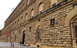 Palace Florence Italy Europe architecturethe museum. The largest of the Palazzo of Florence, an outstanding monument of Quatrocento architecture. Located on the royalty free stock images