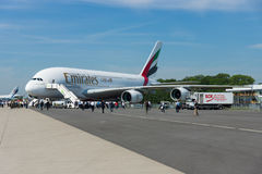 The largest passenger airliner in the world Airbus A380. Royalty Free Stock Image