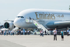 The largest passenger airliner in the world Airbus A380 Royalty Free Stock Photography