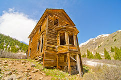 The Largest Preserved House in Animas Forks, a Ghost Town in the San Juan Mountains of Colorado Stock Photo