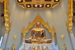 The largest pure gold buddha statue in the world at Wat Traimit Stock Photos