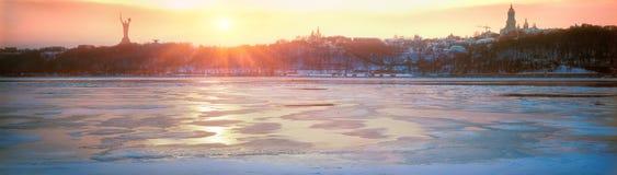 Largest river Dnieper Ukraine Stock Photo