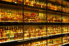 The largest Scotch Whisky collection in the world Stock Images