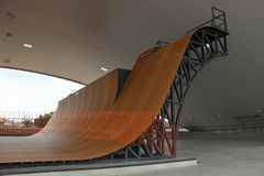 Largest skate park half pipe public track in the world Royalty Free Stock Photos