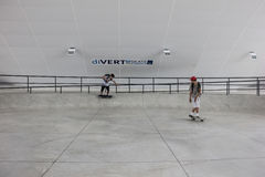 Largest skate park half pipe public track in the world Royalty Free Stock Image