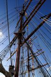 Largest tall ship rigging Royalty Free Stock Photos