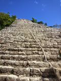 Stairs of Nohoch Mul Pyramid Coba Ruins Royalty Free Stock Images