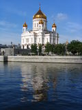 """Largest temple of Russia 2. Moscow. The temple """"Christ – Savior"""". The temple was destroyed by communists. The cathedral is restored after royalty free stock photo"""