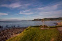 Taupo lake. The largest volcanic lake on New Zealand`s north island Stock Photo