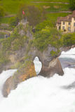 Largest waterfall in Europe by River Rhein in Switzerland Stock Photos
