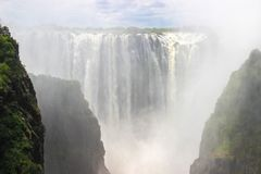 The largest waterfall in the world is Victoria. stock photography