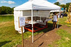 Largest Whoopie Pie. Ronks, PA - September 10, 2016: Unofficially the largest Whoopie pie on display at the Whoopie Pie Festival at Hershey Farms near Strasburg Royalty Free Stock Photos