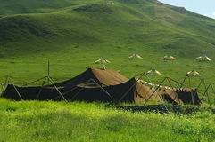 The largest yak hair tents temple Stock Photo & The Largest Yak Hair Tents Temple Stock Image - Image of colored ...