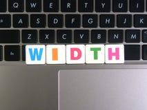 Largeur de Word sur le fond de clavier photos libres de droits