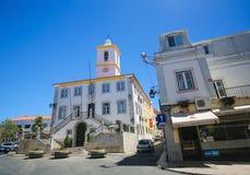 Largo雷斯de Camoes在Almada,葡萄牙 库存照片