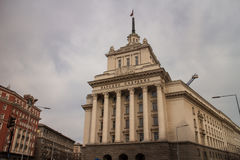 Largo budynek w Sofia, Bułgaria Fotografia Stock