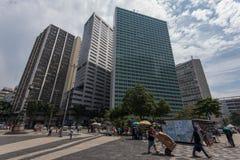 Largo da Carioca Square in Rio de Janeiro stock photography