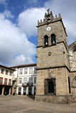 Largo da Oliveira, Guimaraes. Portugal (city downtown square royalty free stock photo