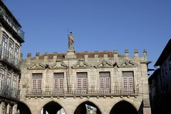 Largo da oliveira in guimaraes royalty free stock image