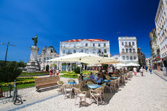 Largo da Portagem in Coimbra, Portugal Royalty Free Stock Photo