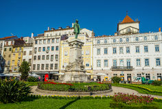Largo de Portagem square in downtown of Coimbra. Portugal. Stock Photo