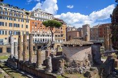 largo di Torre阿根廷 古老废墟在罗马,意大利 库存照片