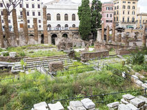 Largo di Torre Argentina Photos stock