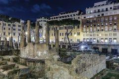 Largo di Torre Argentina, Roma Fotografía de archivo