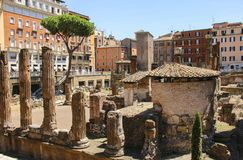 Largo di Torre Argentina in Rome, Italy Royalty Free Stock Photos