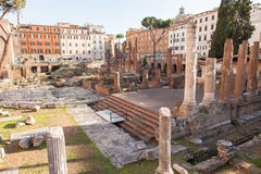 Largo di Torre Argentina Stock Photos