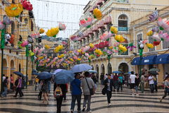 Largo do Senado, Senate Square. Macau. Royalty Free Stock Photos