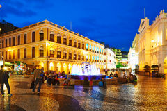 Largo do Senado square night scape Stock Photos