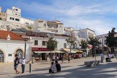 Largo Engenheiro Duarte Pacheco, Albufeira, Algarve Stock Images