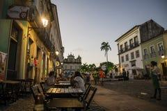 Largo font le Cruzeiro De Sao Francisco, Salvador, Bahia, Brésil images libres de droits
