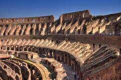 Largo interno de Roma Colosseum Fotos de Stock