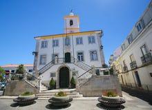 Largo Luis de Camoes in Almada, Portogallo Fotografia Stock Libera da Diritti
